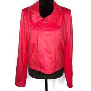 Rock & Republic red moto style jacket